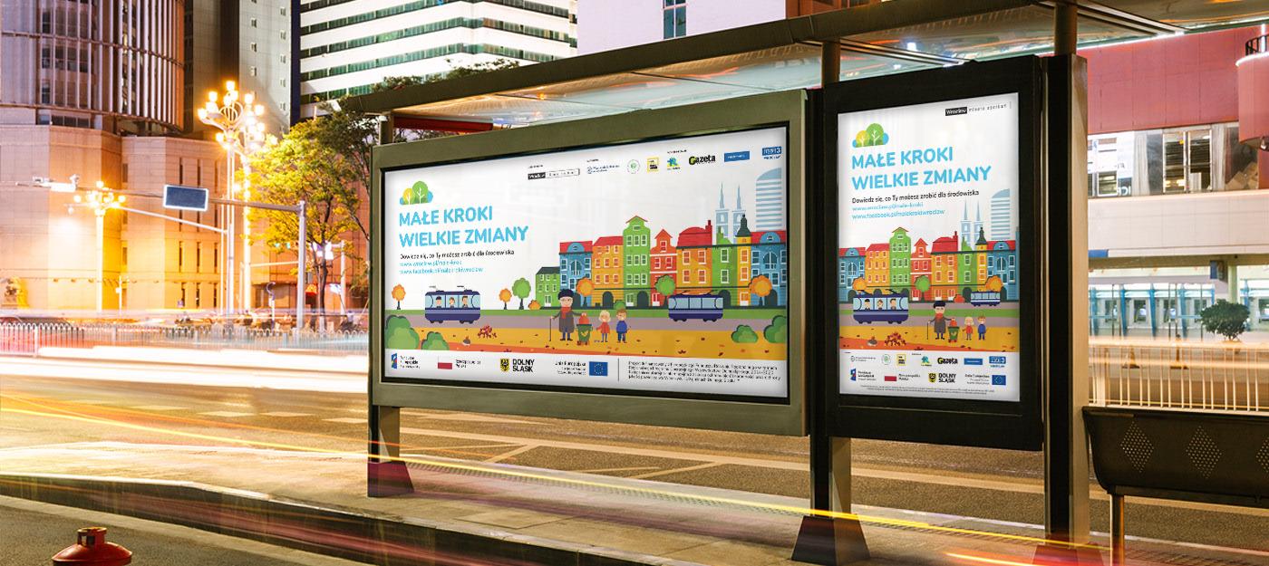 male kroki wielkie zmiany projekty graficzne gadzety nadruki bilbordy citylighty outdoor